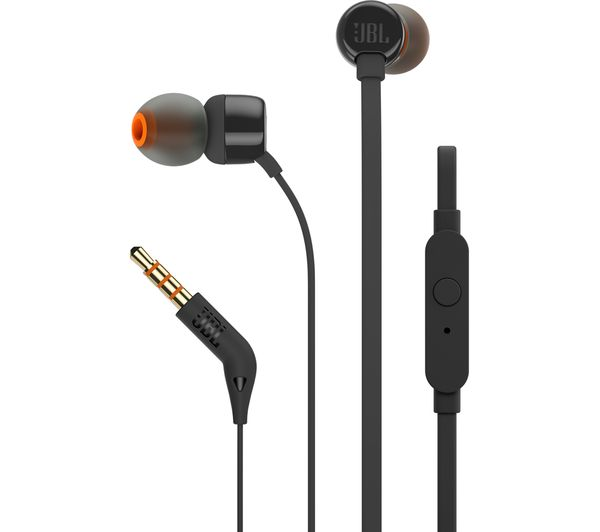 JBL T110 Headphones  Black Black