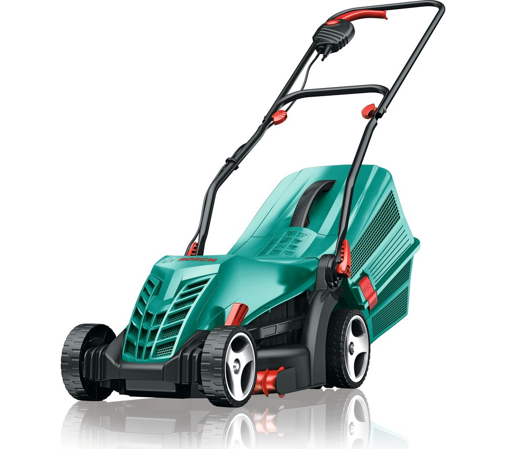 buy bosch rotak 34 r corded rotary lawnmower green free delivery currys. Black Bedroom Furniture Sets. Home Design Ideas