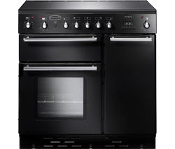 RANGEMASTER Toledo 90 Electric Induction Range Cooker - Black & Satin