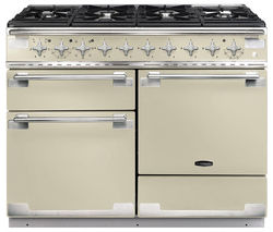 RANGEMASTER Elise 110 Dual Fuel Range Cooker - Cream & Chrome