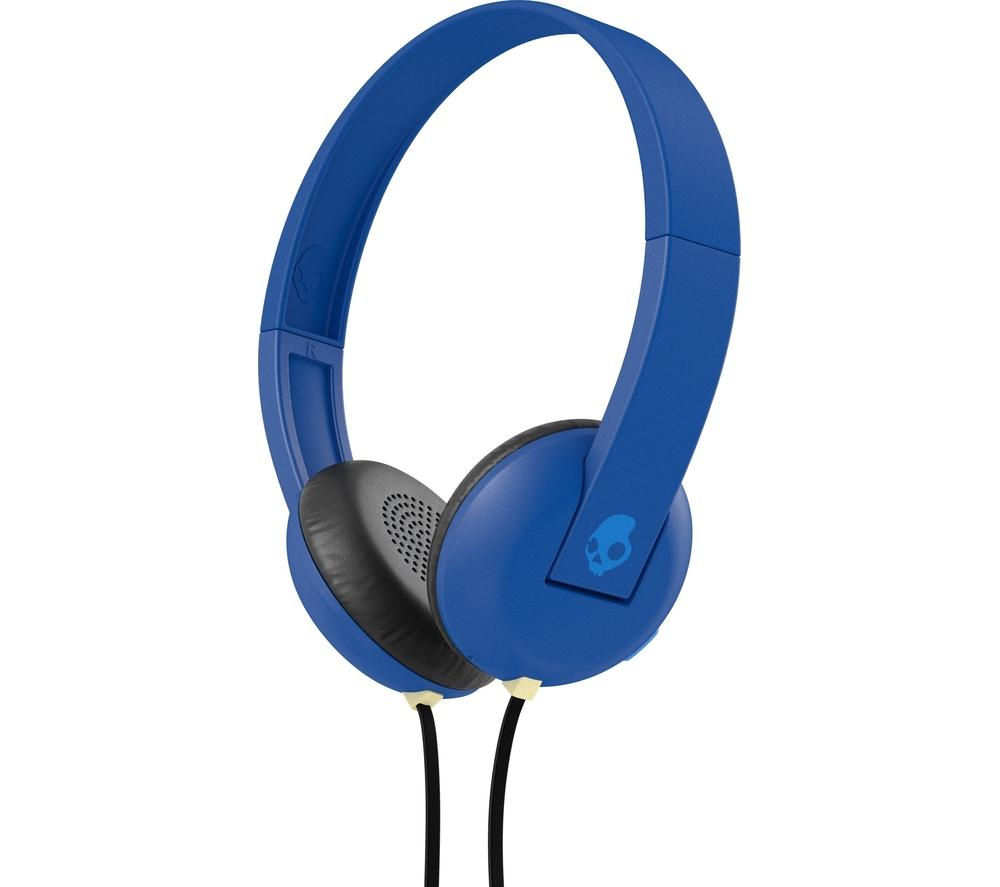 SKULLCANDY Uproar S5URHT-454 Headphones - Royal Blue + iPhone 7 Lightning to 3.5 mm Headphone Jack Adapter