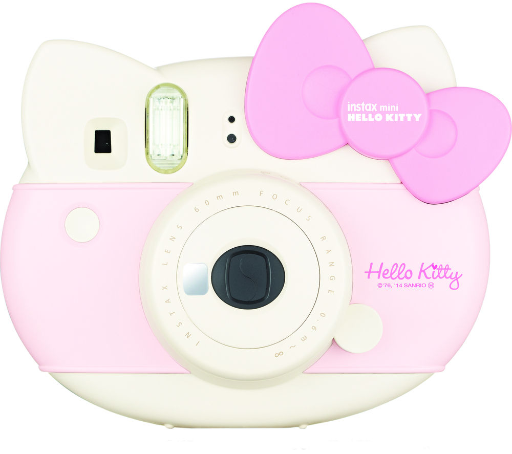 FUJIFILM Hello Kitty Instax Mini Instant Camera – White & Pink