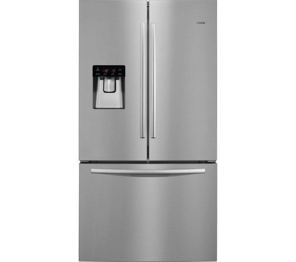 AEG  S76010CMX2 AmericanStyle Fridge Freezer  Silver Silver