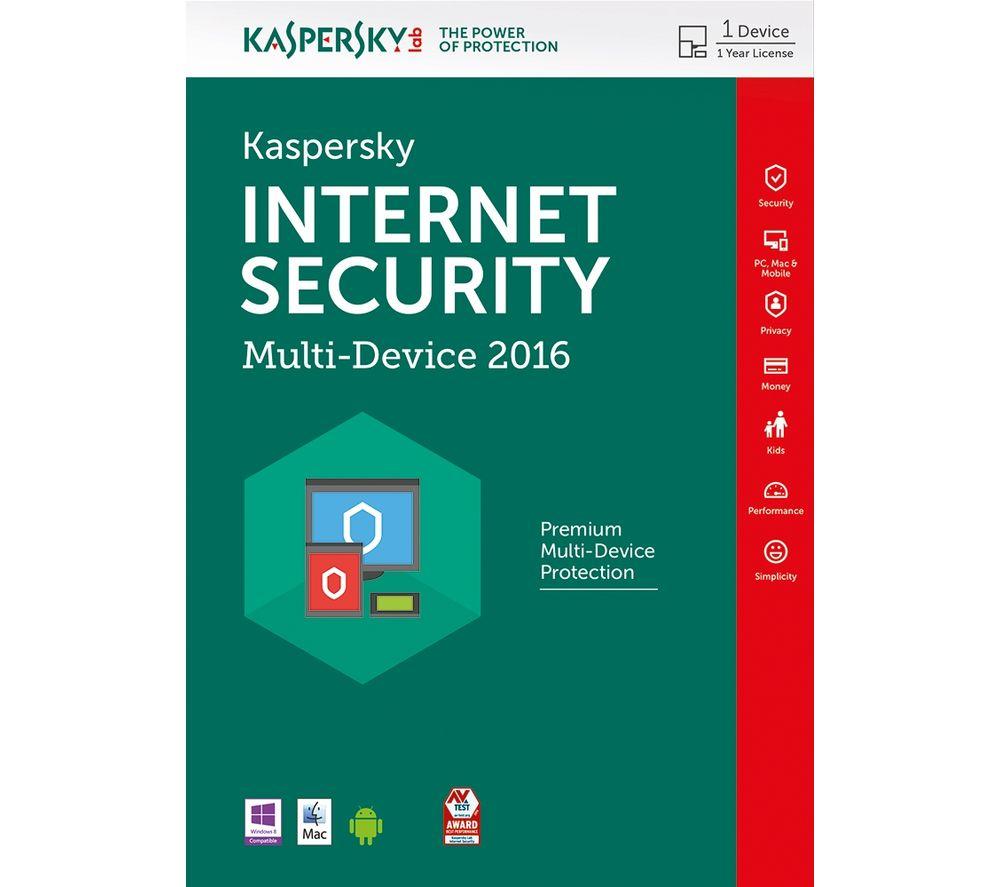 KASPERSKY Internet Security 2016 Multi Device (1 Device, 1 Year)