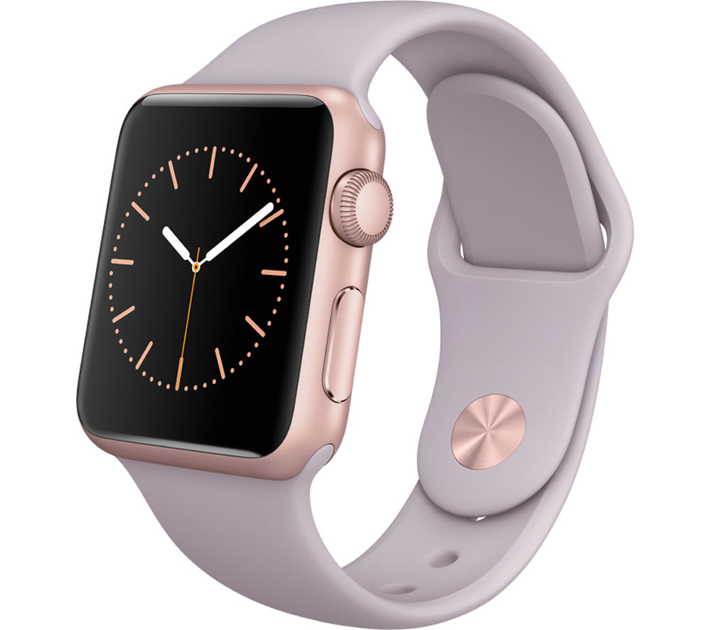 buy apple watch 38 mm with sports band rose gold lavender free delivery currys