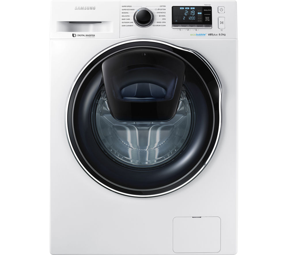 buy samsung addwash ww90k6414qw washing machine white free delivery currys. Black Bedroom Furniture Sets. Home Design Ideas
