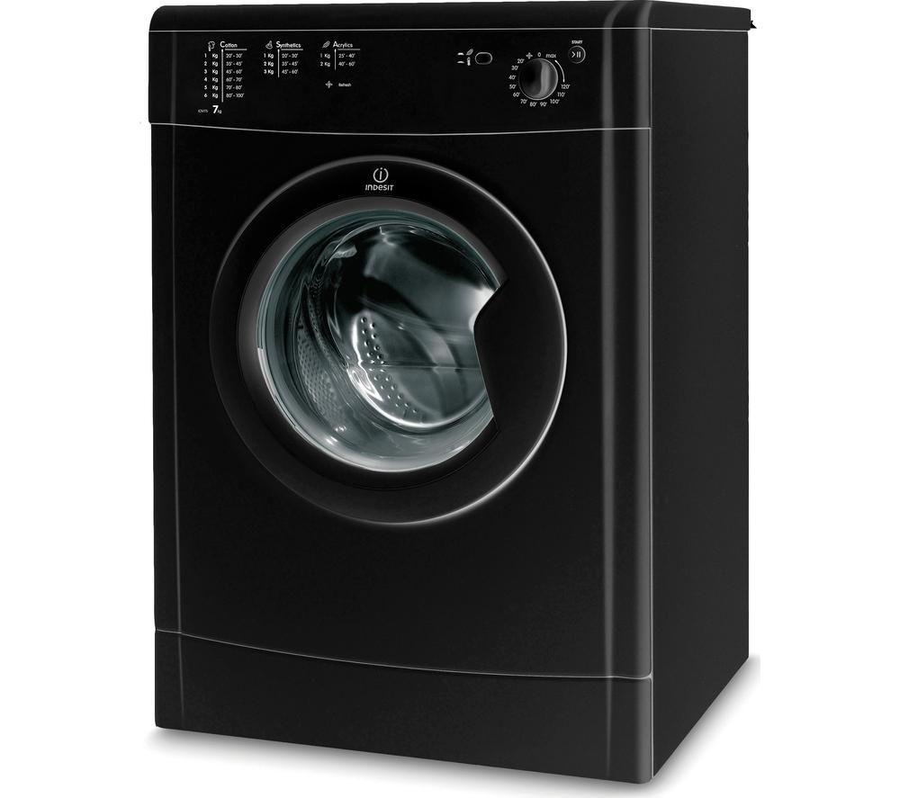 INDESIT  IDV75BK Vented Tumble Dryer  Black Black