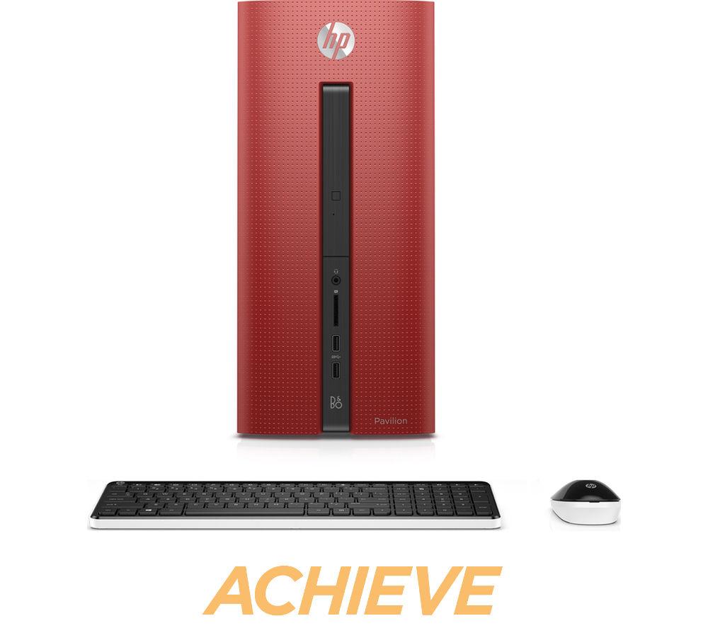 HP Pavilion 550102na Desktop PC  Red