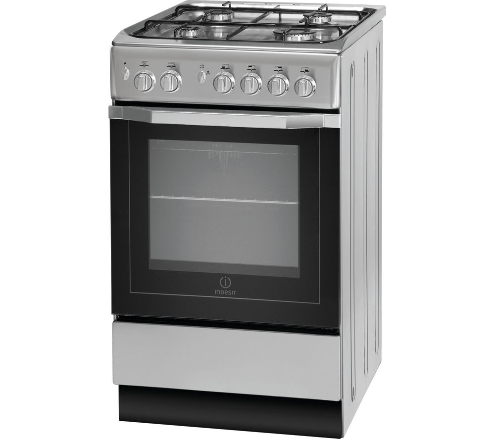 INDESIT I5GG1S Gas Cooker - Silver