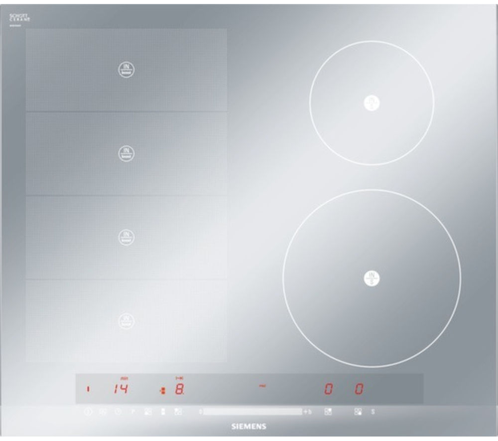 SIEMENS  iQ700 flexInduction EH679MN27E Electric Induction Hob  Stainless Steel Stainless Steel