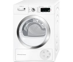 BOSCH Serie 8 WTWH7560GB Heat Pump Smart Tumble Dryer - White