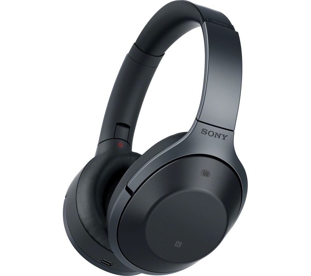 Click to view more of SONY  MDR-1000X Wireless Bluetooth Noise-Cancelling Headphones - Black, Black