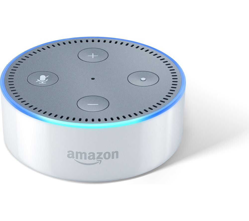buy amazon echo dot white free delivery currys. Black Bedroom Furniture Sets. Home Design Ideas
