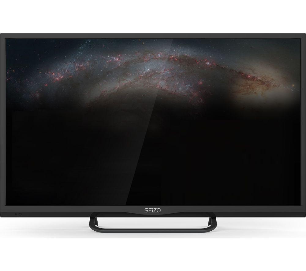 """SEIZO SO32HD01UK 32"""" Smart LED TV + LFMSKS16 Full Motion TV Bracket Starter Kit"""