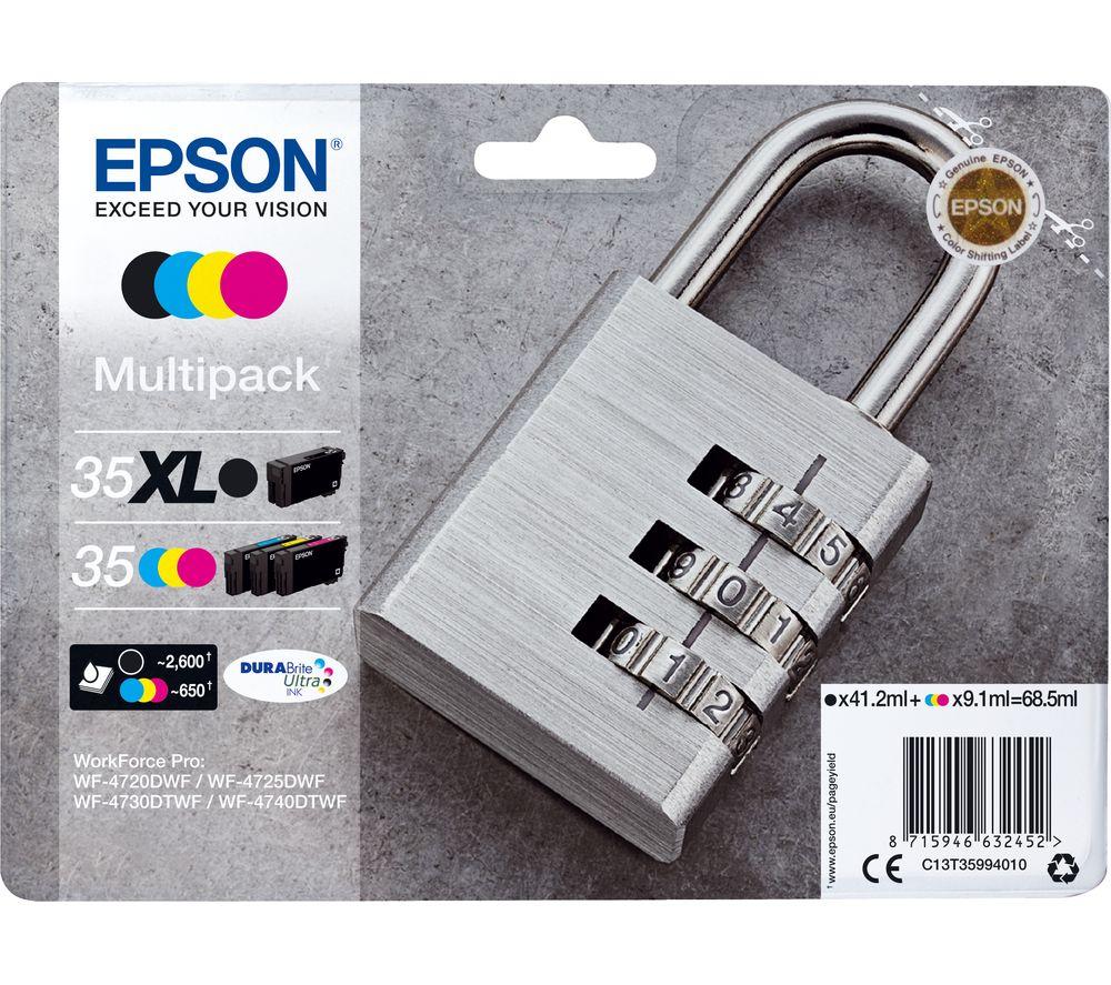 EPSON Padlock 35 Cyan, Magenta, Yellow & Black Ink Cartridges - Multipack