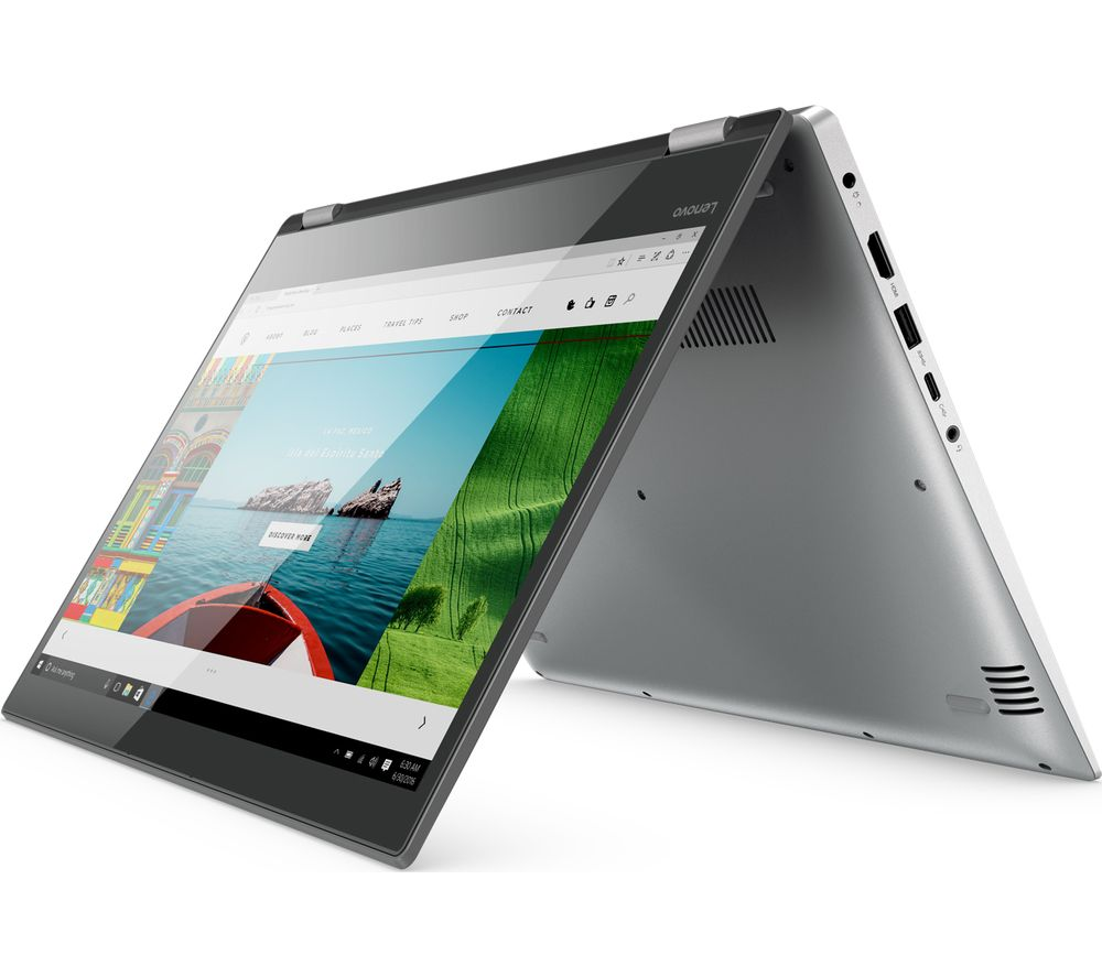 "LENOVO Yoga 520 14"" Touchscreen 2 in 1 - Grey + Office 365 Personal + LiveSafe Unlimited 2017 - 1 year"