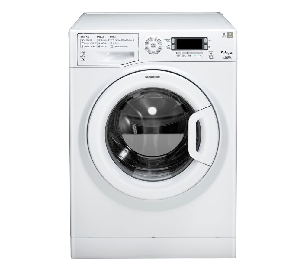 HOTPOINT  WDUD9640P Washer Dryer  White White