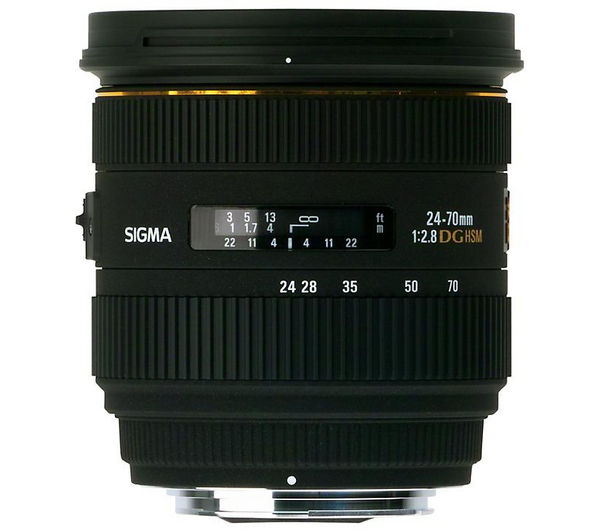 SIGMA 24-70 mm f/2.8 DG EX HSM IF Wide-angle Zoom Lens - for Canon