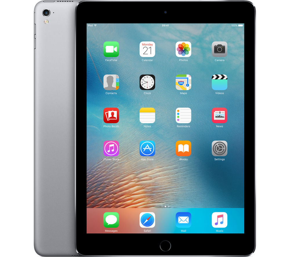"Image of Apple 9.7"" iPad Pro Cellular - 128 GB, Space Grey, Grey"