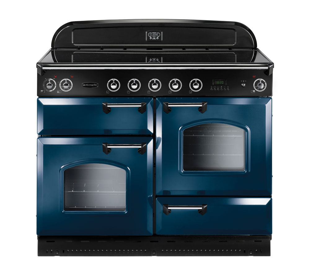 Image of Rangemaster Classic 110 Electric Induction Range Cooker - Blue & Chrome, Blue