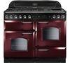 RANGEMASTER Classic 110 Dual Fuel Range Cooker - Cranberry & Chrome