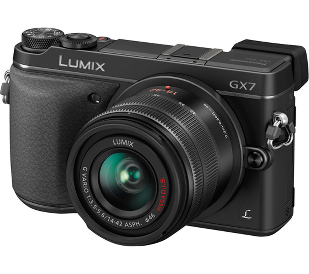 PANASONIC Lumix DMC-GX7KEB-K Compact System Camera with 14-42 mm f/3.5-5.6 Zoom Lens