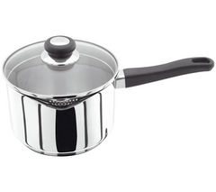 JUDGE VISTA 20 cm Draining Lid Saucepan - Stainless Steel