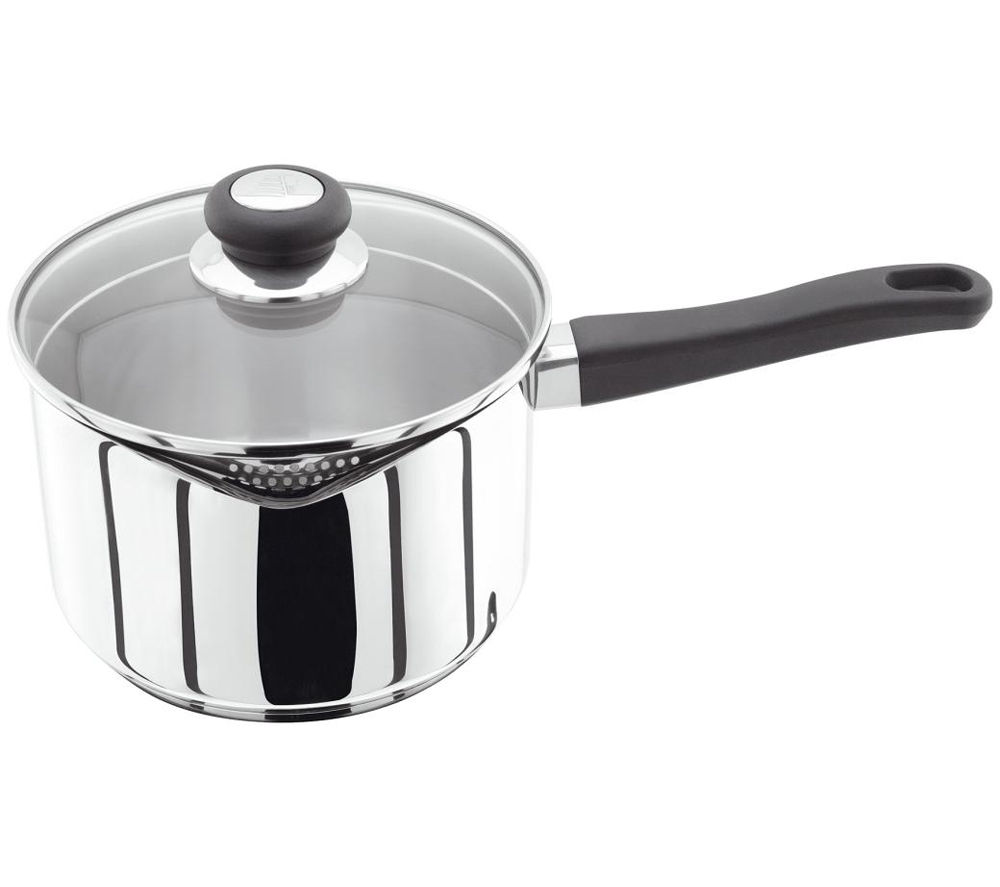 JUDGE VISTA  20 cm Draining Lid Saucepan  Stainless Steel Stainless Steel