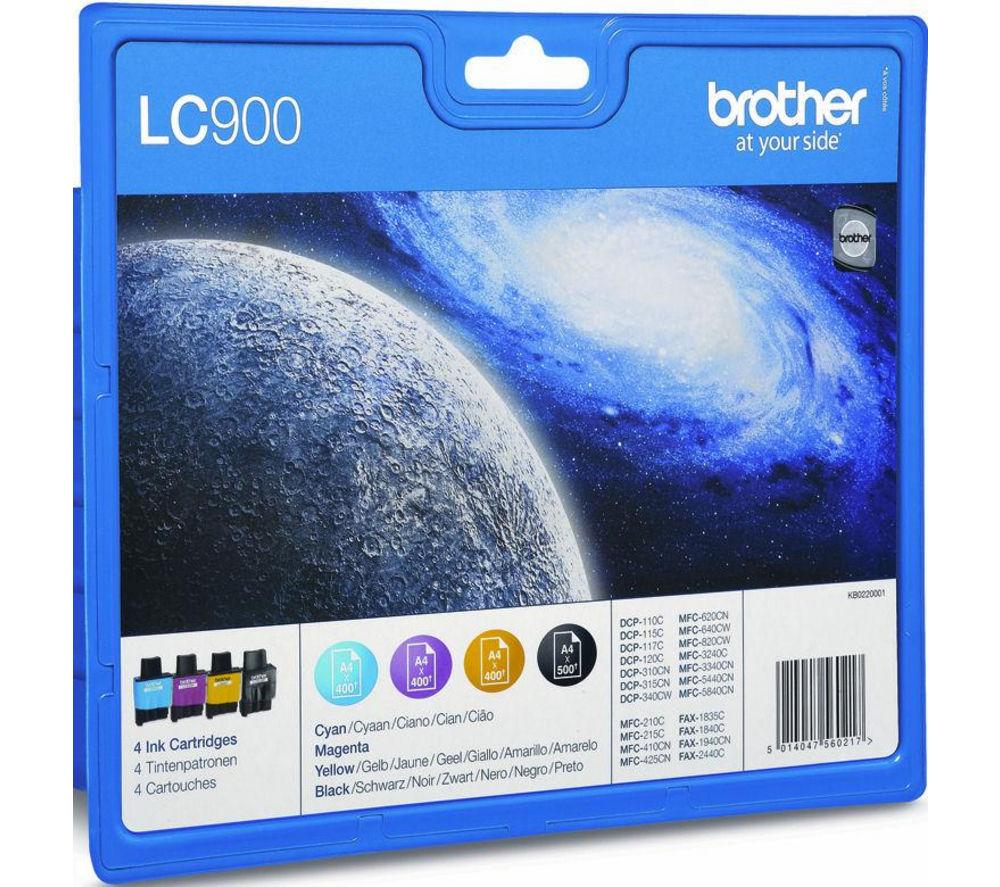 BROTHER LC900 Cyan, Magenta, Yellow & Black Ink Cartridge