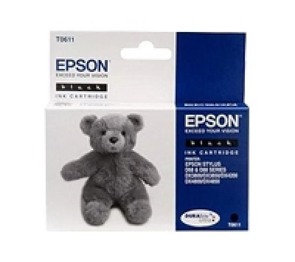 EPSON Teddybear T0611 Black Ink Cartridge
