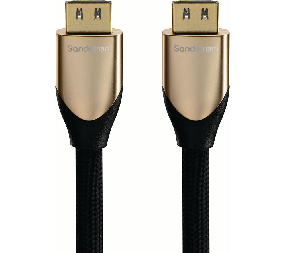 SANDSTROM  S1HDM315 HDMI Cable with Ethernet  1 m
