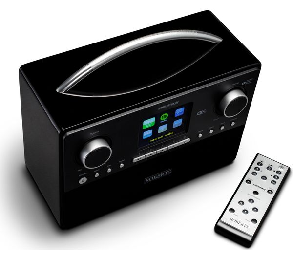 buy roberts stream93i dab clock radio black free delivery currys. Black Bedroom Furniture Sets. Home Design Ideas