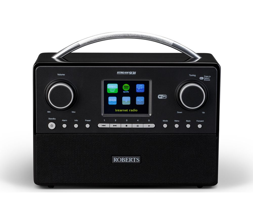 ROBERTS STREAM93I DAB+ Clock Radio - Black