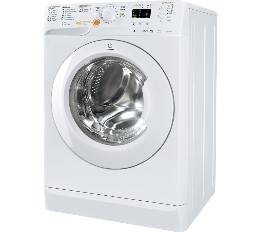 buy indesit innex xwde751480xw washer dryer white free. Black Bedroom Furniture Sets. Home Design Ideas
