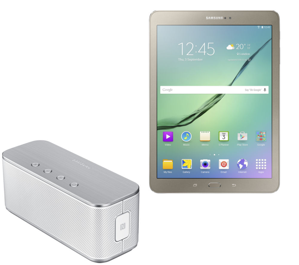 buy samsung galaxy tab s2 9 7 tablet and wireless speaker bundle free delivery currys. Black Bedroom Furniture Sets. Home Design Ideas