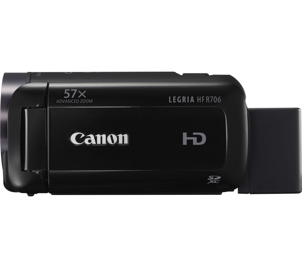 Image of Canon LEGRIA HF R706 Full HD Traditional Camcorder - Black, White