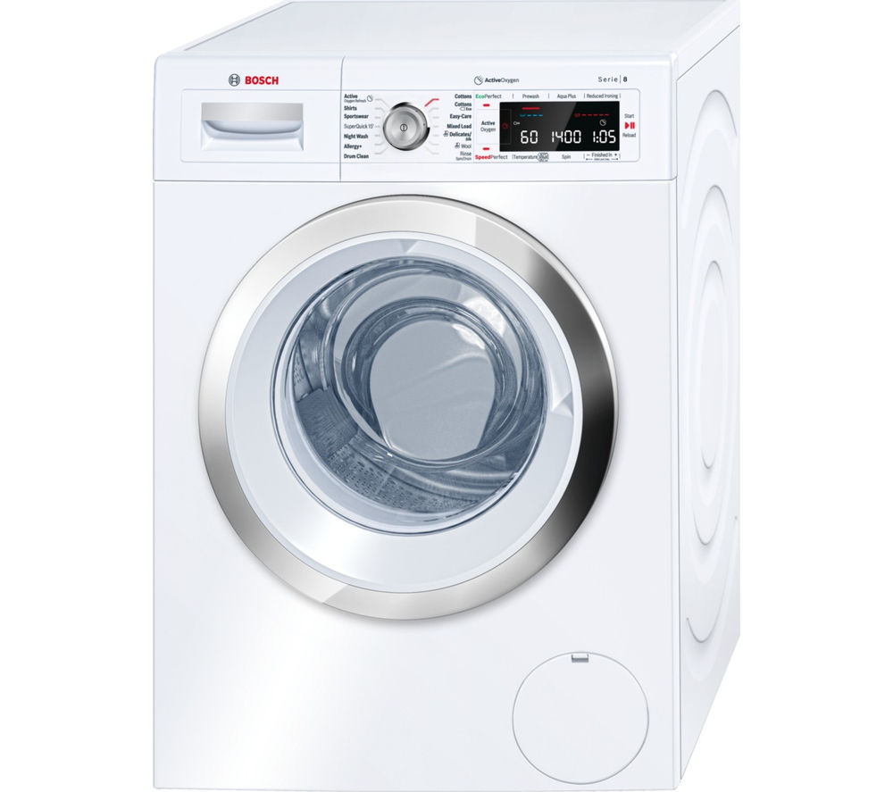 buy bosch serie 8 activeoxygen waw28750gb washing machine white free delivery currys. Black Bedroom Furniture Sets. Home Design Ideas
