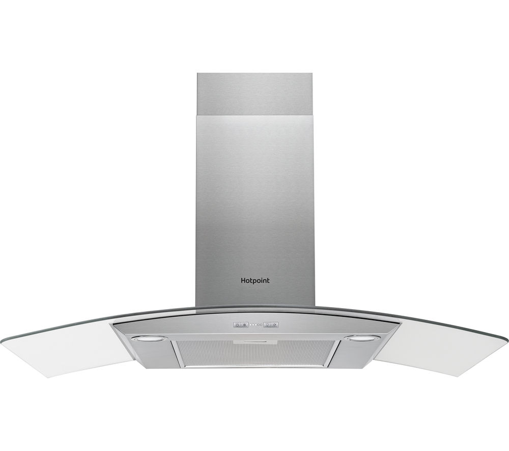 HOTPOINT  PHCG9.5FABX Chimney Cooker Hood  Stainless Steel Stainless Steel