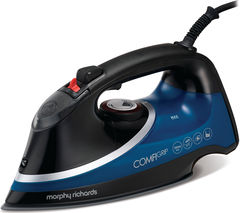 MORPHY RICHARDS Comfigrip 303107 Steam Iron - Black & Blue