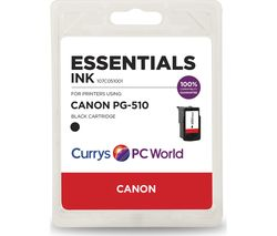 ESSENTIALS PG-510 Black Canon Ink Cartridge