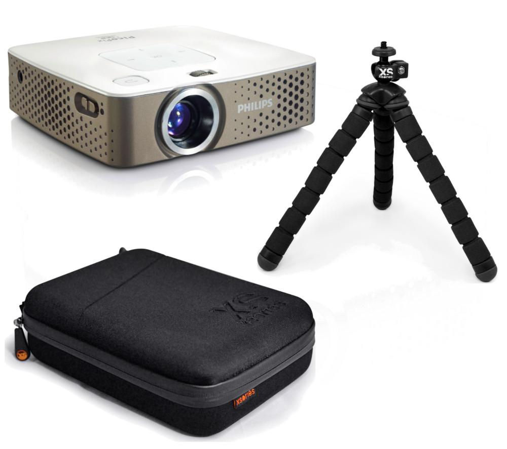 Buy philips picopix ppx3414 portable projector tripod for Pocket projector case