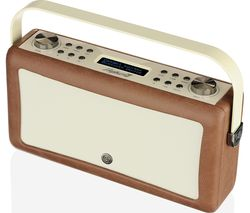 VQ Hepburn Mk II Portable DAB+/FM Bluetooth Clock Radio - Brown