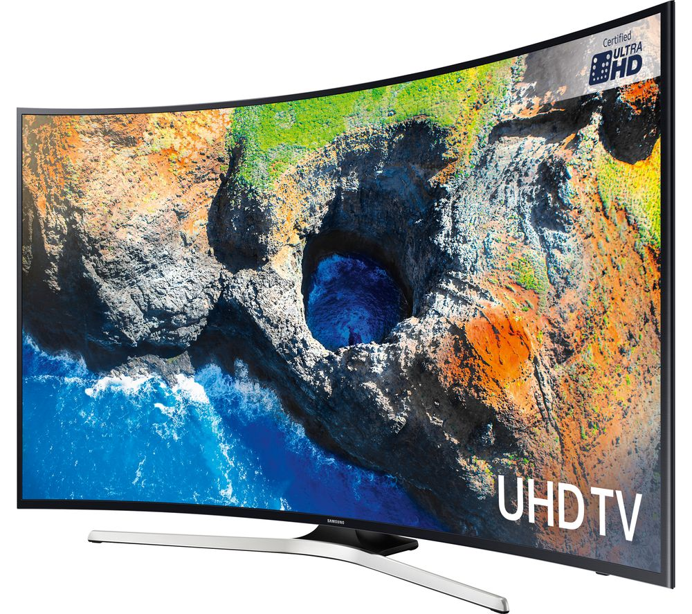 """SAMSUNG UE65MU6200 65"""" Smart 4K Ultra HD HDR Curved LED TV + S1HDM315 HDMI Cable with Ethernet - 1 m"""
