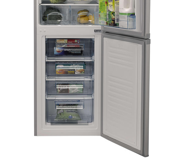 Buy Logik Lfc55s13 Fridge Freezer Silver Free Delivery