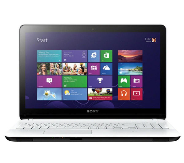 Sony Fit 15 SVF1521P2EW 15.6&quot Touchscreen Laptop  White White