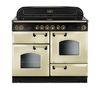 RANGEMASTER Classic 110 Electric Ceramic Range Cooker - Cream & Brass