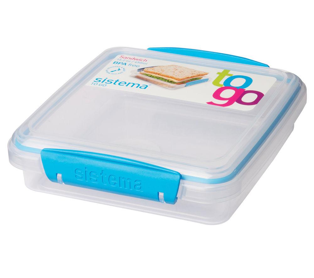 SISTEMA Square 0.45-litre Sandwich to Go Box