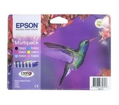 EPSON Hummingbird T0807 6-colour Ink Cartridges - Multipack