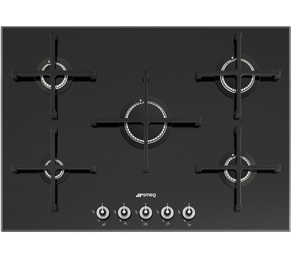Image of Smeg Linea PV175N Gas Hob - Black, Black