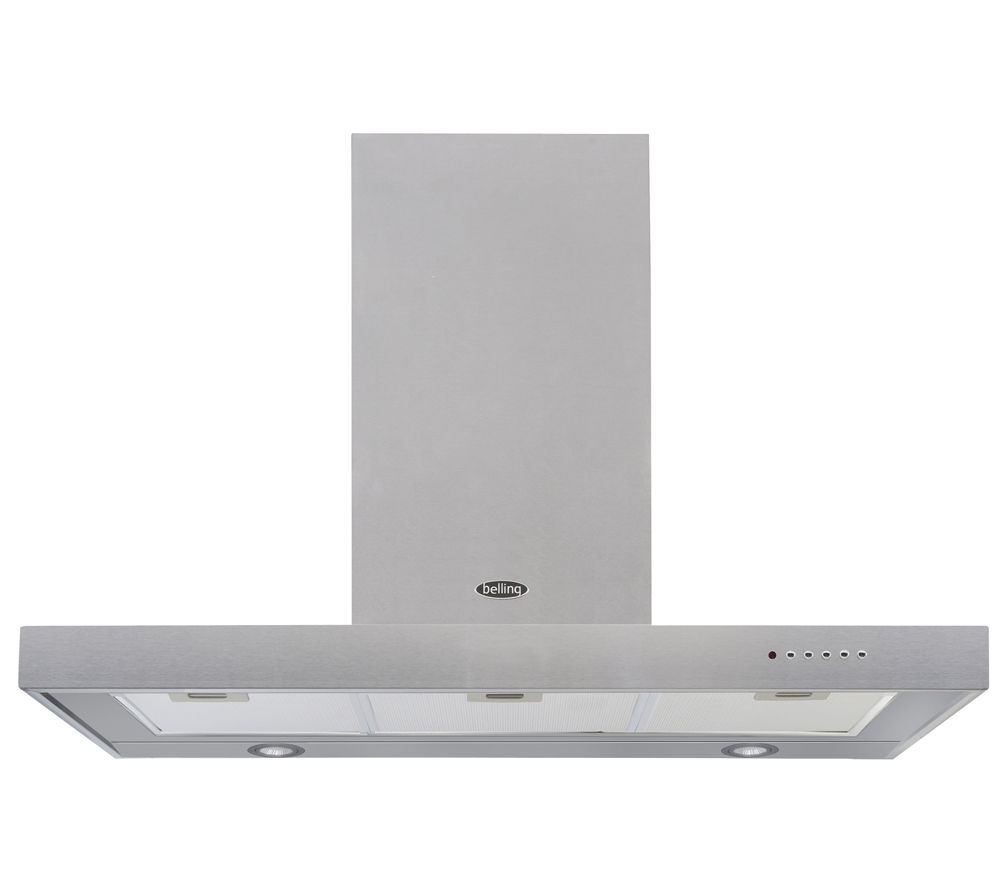 BELLING 90 DB Flat Chimney Cooker Hood - Stainless Steel